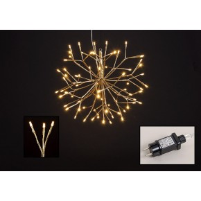 Kerstverlichting Lichtster 72 Led Warm Wit Goud